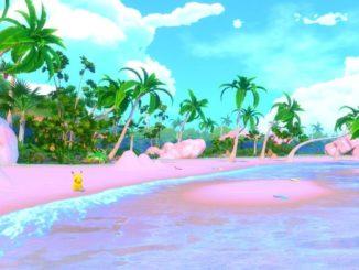 """Un Pikachu sauvage apparaît sur une paisible plage du jeu """"New Pokémon Snap"""""""